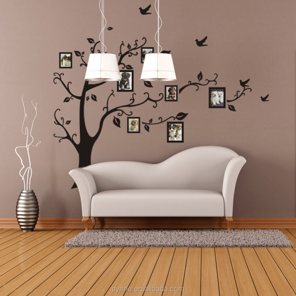 Decoration 3d Murale Cadre Photo De Famille Arbre Sticker Mural Salon Stickers Muraux Décor 3d Pvc Décoration Murale Autocollant Peintures Modernes Arbres Buy
