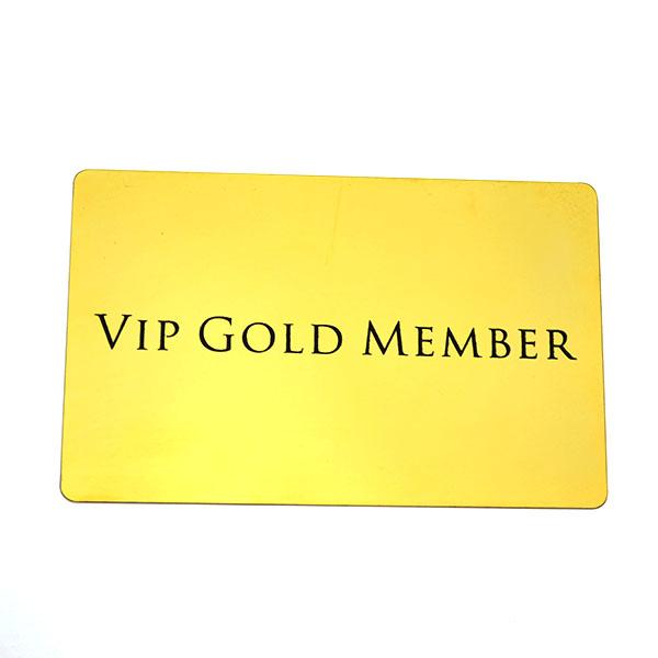 Gold Plated Vip Membership Metal Card,Blank Business Card - Buy