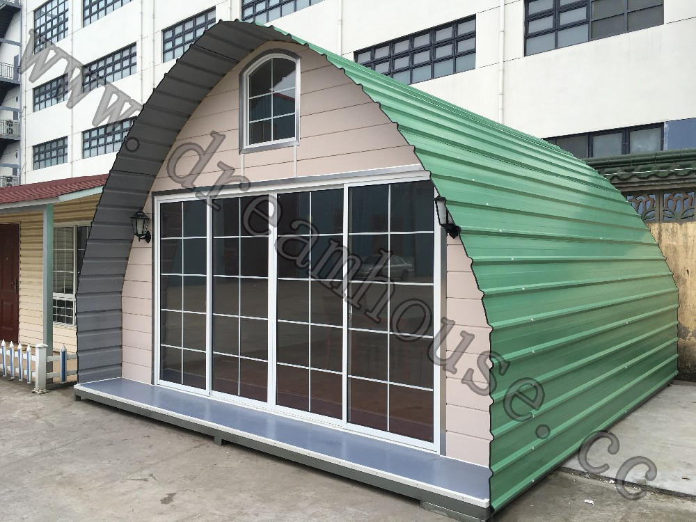 Osb 9mm China Cheap Dome Prefab Cabin House/ Modern Arched Cabin