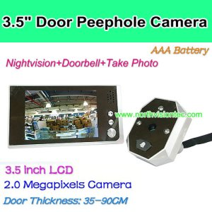 hotel door peephole camera with 3.5 inch LCD screen