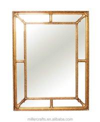 Antique Gold Square Shape Bevel Wooden Mirror Frame - Buy ...