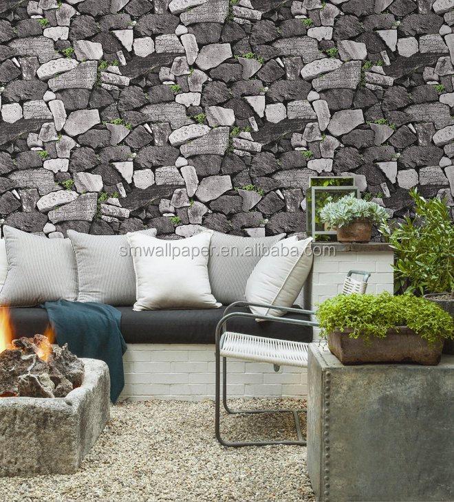 3d Stone Design Beautiful Wallpaper Pvc Waterproof Wallpaper For - 3d wallpaper for living room