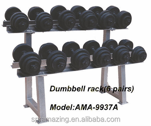 Home Gym Equipment Dumbbell Rack6 Pairs With Strong