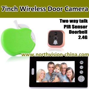 High quality 7inch wireless door camera with two way talk function