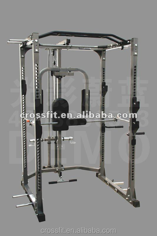 Power Rack Crossfit Power Cage With Lat Attachment Cable