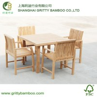 Outdoor Square Bamboo Garden Furniture Set For Chair And ...