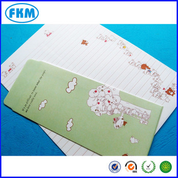 Korea Letter Pad Writing Fancy Colorful Paper + Envelopes - Buy