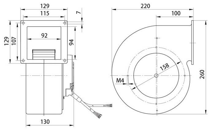 squirrel cage fan wire diagram for