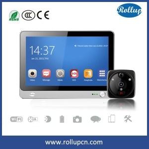 smart home WIFI GSM door viewer,digital door peep hole,wireless wifi doorbell camera