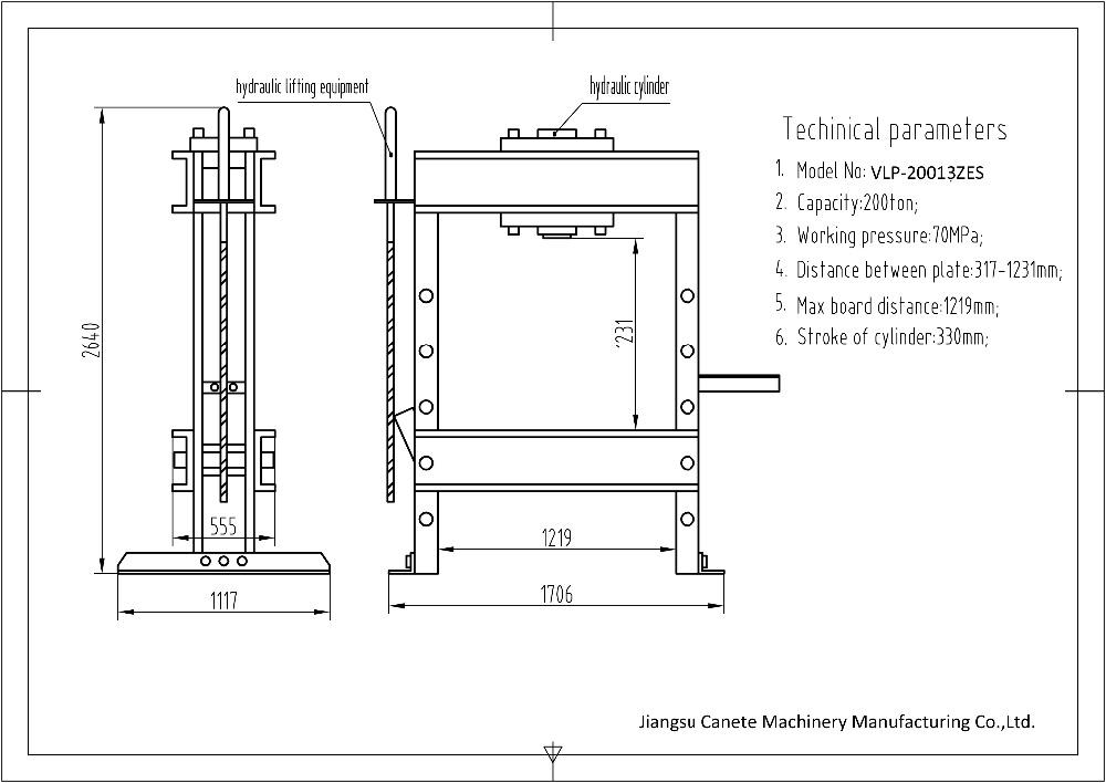 Factory Price Hydraulic Workshop Press Machine 100 Ton - Buy