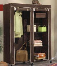 Portable Wardrobe Storage Clothes Closet With Shelves For