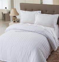 Luxury White Sateen Stripe Bedding Set - Buy Bedding Set ...