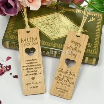 Custom Wooden Bookmark With Standard Size - Buy Wooden Bookmark