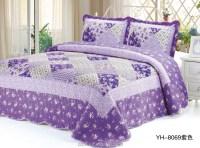 Little Purple Flower Tartan Patchwork Quilts / Patchwork ...
