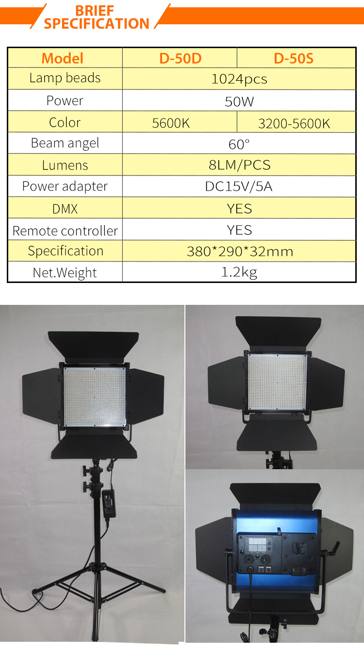 Tv Studio Verlichting 3200 K 5600 K Led Foto Lamp 2 2 M Flexibele Statief Draadloze 50 W Tv Studio Verlichting Apparatuur Buy Video Studio Apparatuur Studio Licht Led Tv