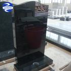 European style shanxi black granite carving tombstone design