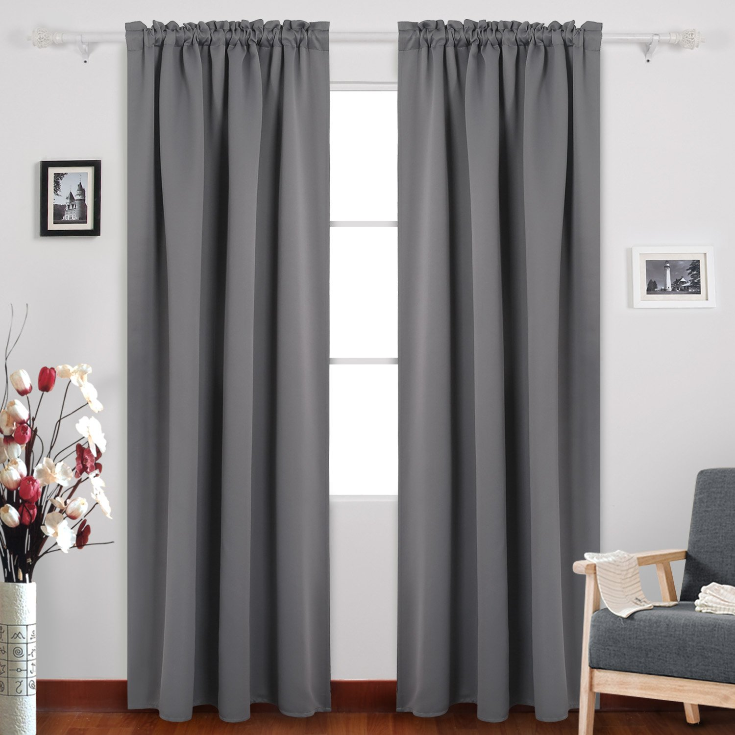 Grey Thermal Curtains Cheap Grey Blackout Curtains Find Grey Blackout Curtains Deals On
