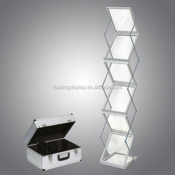 Portable A3 A4 Brochure Stand,Acrylic Board Brochure Stand,Zig Zag