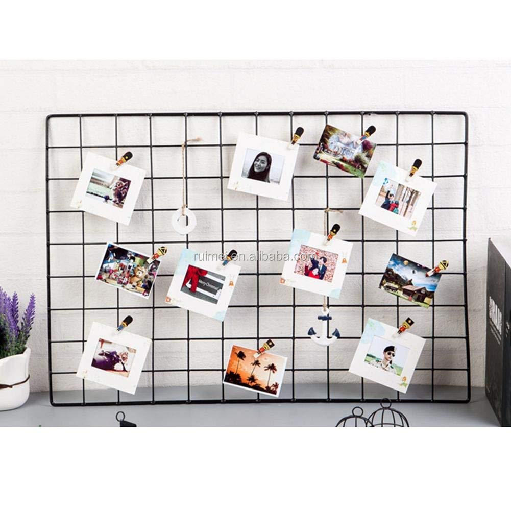 Wall Grid Wire Wall Metal Grid Panel Photo Wall Decor Home Display Buy Wall Grid Panel Wire Photo Display Metal Grid Panel Product On Alibaba