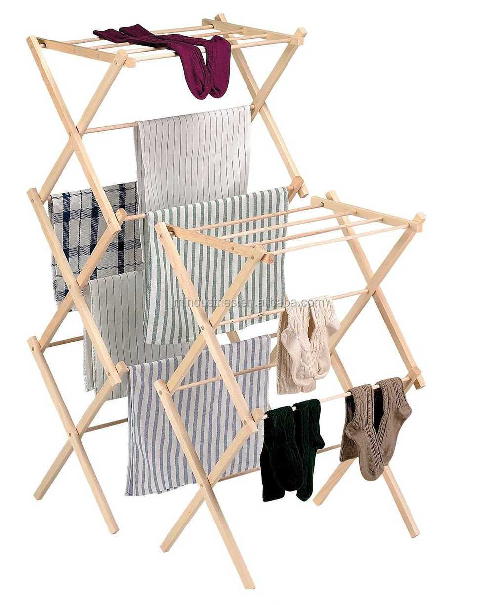 Wall Mounted Folding Clothes Drying Rack Lift Laundry