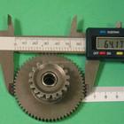 Steel starter reduction gear for motor engine