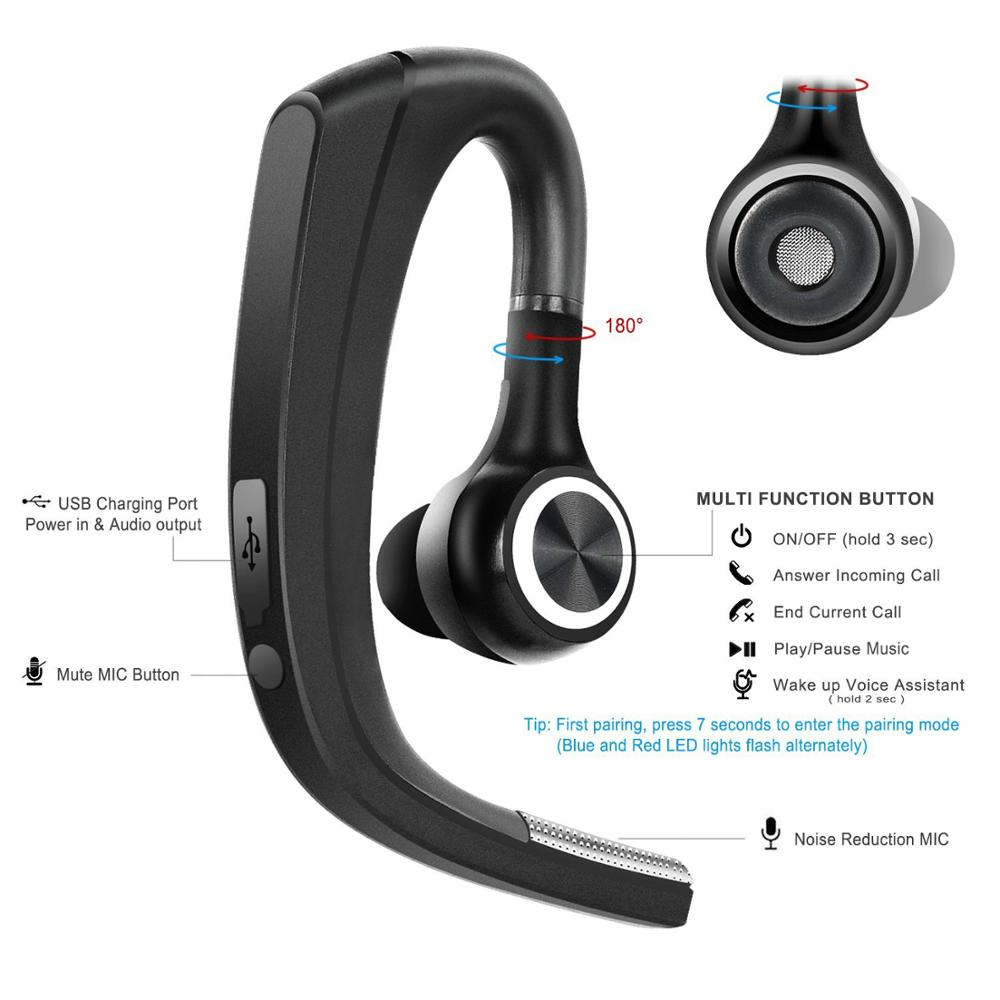 Bluetooth Para Manos Libres Compatible Para Todos Bluetooto Dispositivos Manos Libres Bluetooth 4 1 Auricular Inalámbrico Auricular Bluetooth Para Negocios Camionero Buy