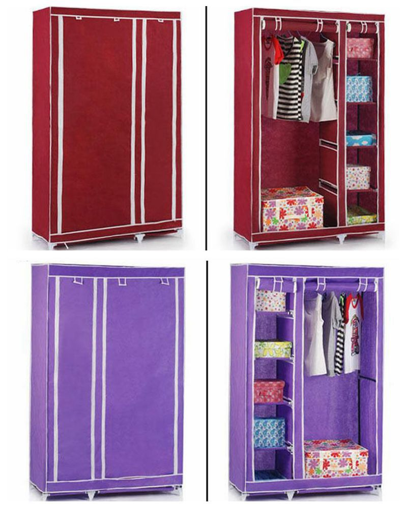 Clothes Storage Portable Clothes Storage Shelf Easy Assembled Plastic Closet With Zipper Buy Plastic Closet With Zipper Assemble Plastic Portable Wardrobe