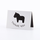 Hot Selling Custom Greeting Thank You Gift Paper Card