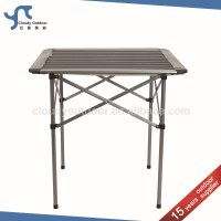 Roll Up Top Camping Aluminum Small Metal Folding Table ...
