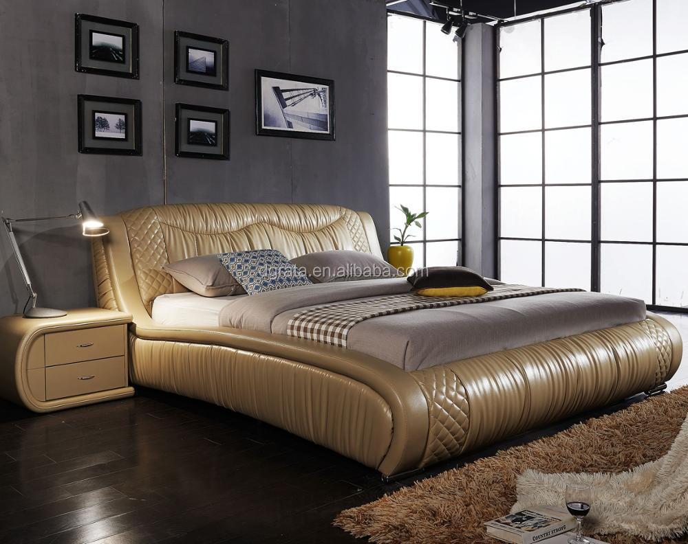 Leather Bed 2018 Golden Royal Modern Genuine Leather Bed For Bedroom Furniture View Leather Bed Gly Product Details From Dongguan Rata Import And Export Trading