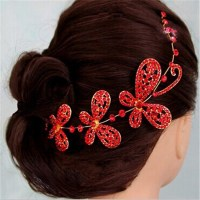 High Quality Crystal Flower Indian Wedding Bridal Hair ...