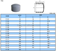 Low Price Pvc Pipe Fittings Pvc End Cap For Water Supply ...
