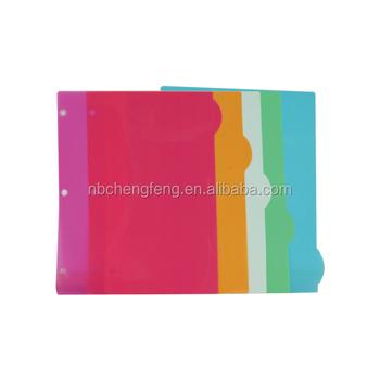 3 Holes Pp File Folder Notebook Tabs Index Dividers - Buy Index Tab