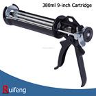Smooth Rod 3 Rods 380ml Capacity Caulking Gun Dispenser Gun, 12:1 16:1 Thrust Ratio