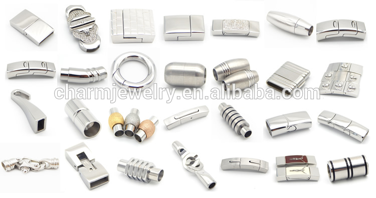 Bx034 Wholesale 316l Stainless Steel Circle Hinged Clasp