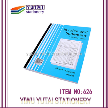 2- Copy Bill Book Design Printing,Custom Cheap Vista Print Invoice