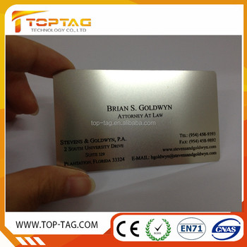 Qr Code Stainless Steel Business Cards/metal Cards (china