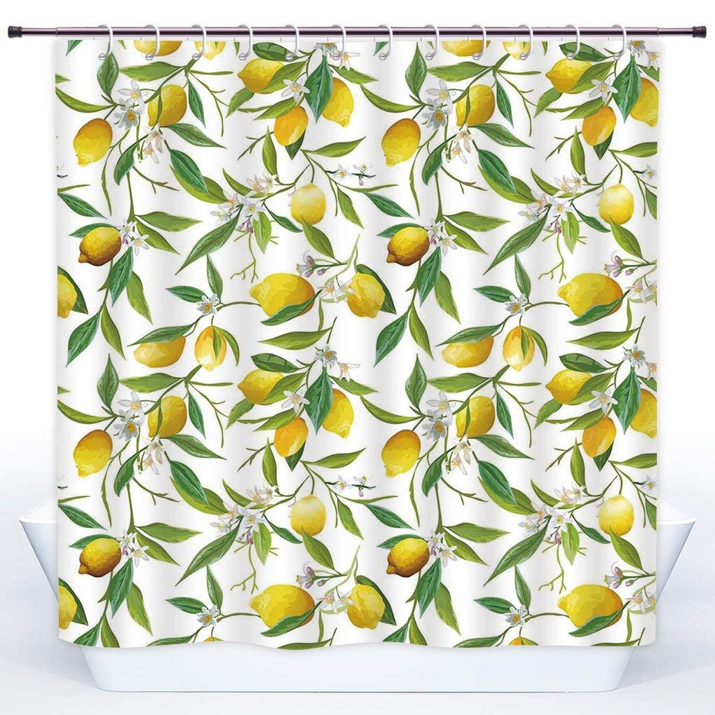 Lemon Green Curtains Buy Green Pink Multi Flowered Tulip Shower Curtains Polyester