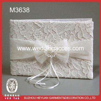 M3638 Elegant Wedding Guest Book Wedding Signature Guest Book - Buy