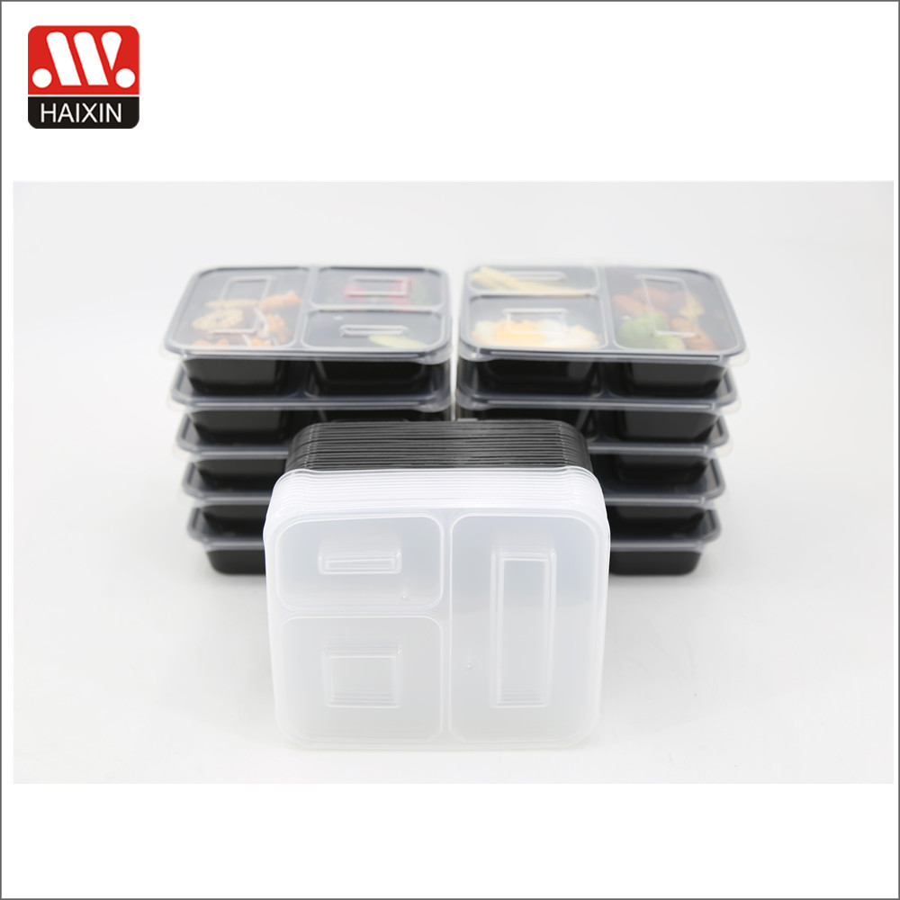 Kunststof Mand Wholesale 3 Compartment Take Away Microwave Pp High Quality Food