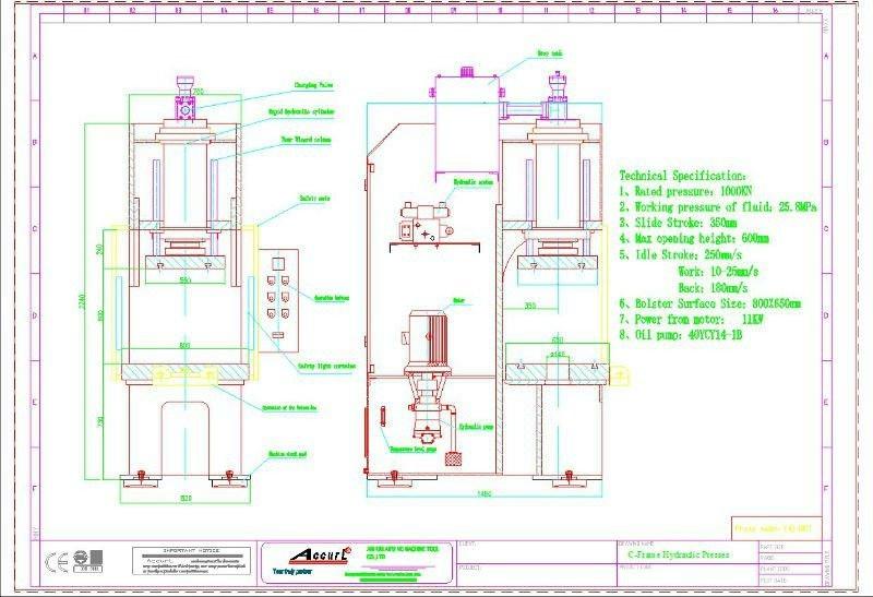 30 Ton C Frame Hydraulic Press,C-type Hydraulic Press Machine 30