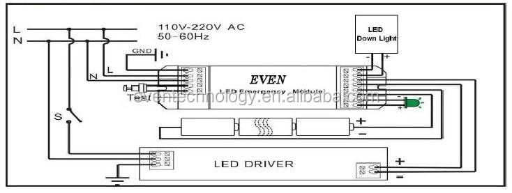 mains downlight wiring diagram