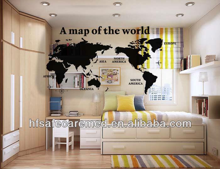Fashion Writable Office Blackboard World Map Wall Sticker - Buy