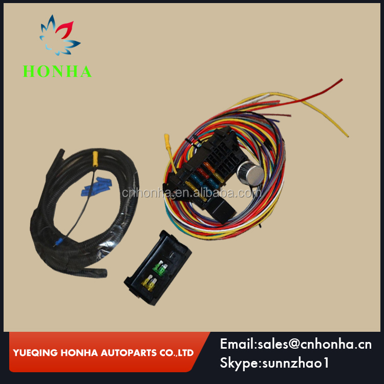 10 Circuit Basic Wire Harness Fuse Box Street Hot Rat Rod Wiring Car