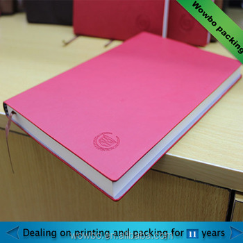 China Personalized Coupon Pink Journal Book Printing Notebook With