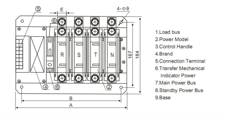 Wiring Diagram Changeover Switch Single Phase Generator Diagram