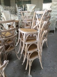 Wood Limewash Vintage Chair/ Cross Back Chair/ Cafe Chair ...