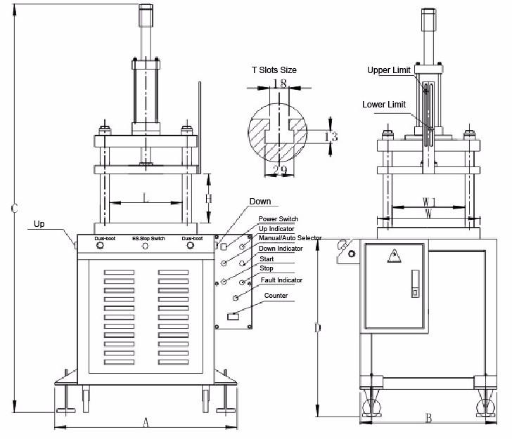 Four Columns Small Hydraulic Press 3 Tons - Buy Four Column