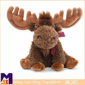 2015 Hot Selling Christmas Moose Stuffed And Plush Toys,Christmas - moose christmas decorations