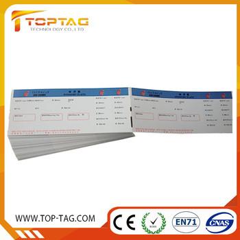 Custom 1356mhz Printable Thermal Paper Rfid Ticket In Fan Fold - printable ticket paper